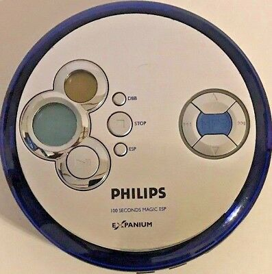 Philips EXP2461 100 Second Magic ESP Expanium CD MP3 Portable CD Player Tested