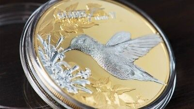 2017 Cook Island 25 g Silver Coin Shades of Nature - Hummingbird with COA & BOX