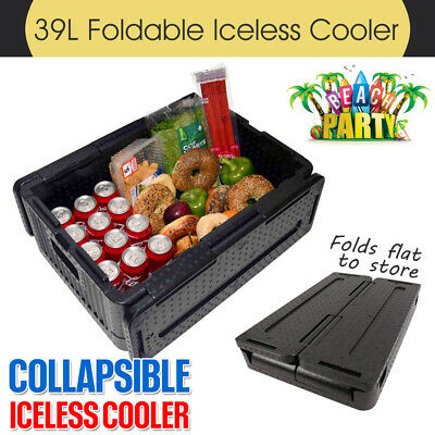 Collapsible Iceless Cooler Lightweight Foldable Stackable 39L XL Chill Chest