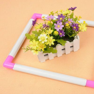 Embroidery Plastic Cross Stitch Frame Sewing Tools Cross Stitch Hoop Househ Y2R9