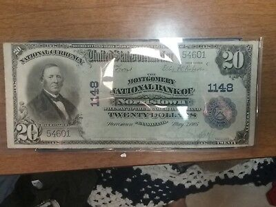 1902 Series $20 National Note RARE