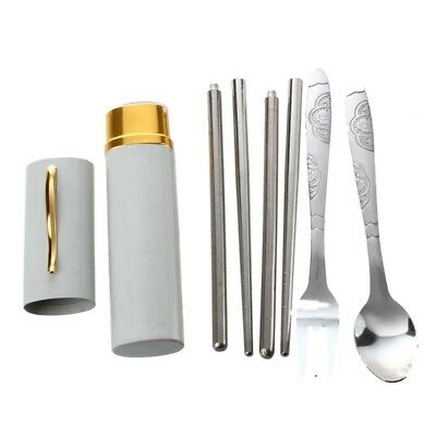Stainless Steel Fork Spoon Chopsticks Set PK Z6W7 K5M1
