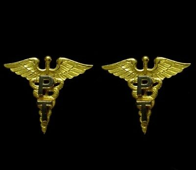 WWII US Army Officer Medical Corps PT Physical Therapy Therapist Insignia - Pins