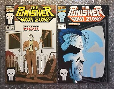 Punisher War Zone #14 & #15 - CLASSIC STORYLINES - 1993 Marvel Modern Age LOT!