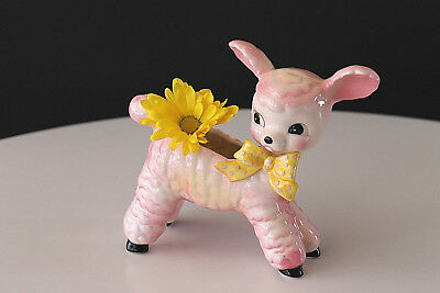 Vintage 50's Baby Lamb Ceramic Planter SWEET!
