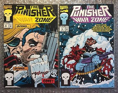 Punisher War Zone #9 & #11 - CLASSIC STORYLINES -1992/1993 Marvel Modern Age LOT
