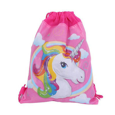 Unicorn Drawstring Library School Swimming Kinder Book Bag Birthday Lolly Loot