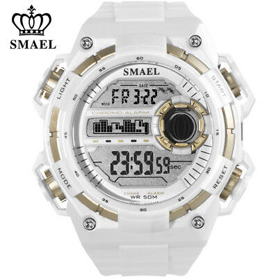 SMAEL Sport Watch for Men Large Dial LED Watches Digital Electronic Wristwatch