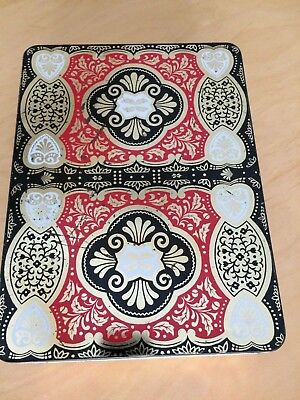 Vintage Oriental/Asian Style RED BLACK WHITE Tin Made In England