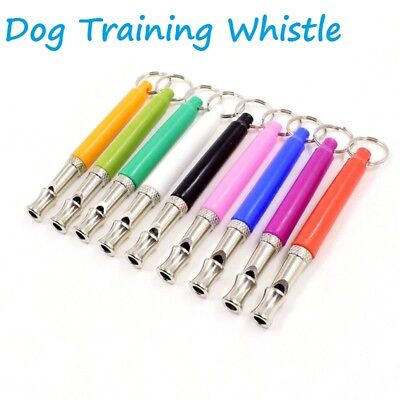 Dog Puppy Pet Training Whistle Silent Ultrasonic Adjustable Sound 8 colors