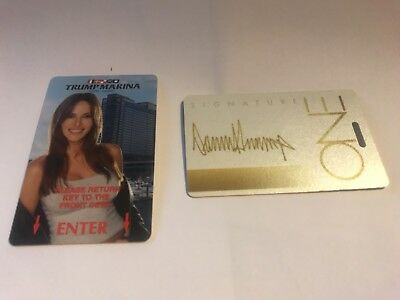 **TRUMP MARINA Melania Room Card / Donald Trump Signature card  BOTH VERY RARE
