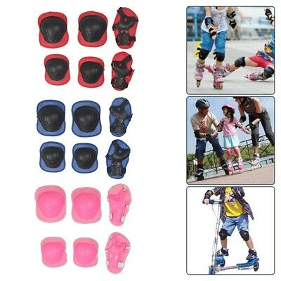Kids and Teens Elbow Knee Wrist Protective Guard Safety Gear Pads Skate hot UK