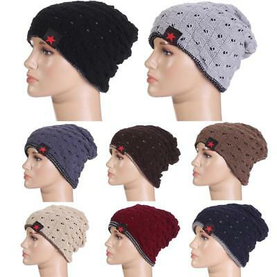 8 Colors Mens Women Baggy Beanie Winter Hat Ski Slouchy Chic Knitted Skull Cap