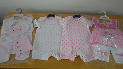 Bundle of baby girls clothes sets summer size 0-3 months BNWT