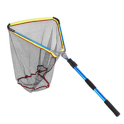 Collapsible Fishing Net  Long Handle Telescopic Fish Catching Landing Nets