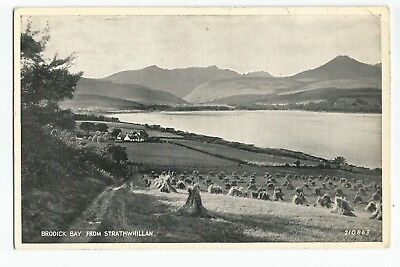Postcard Brodick Bay from Strathwhillan Isle of Arran      (A25)