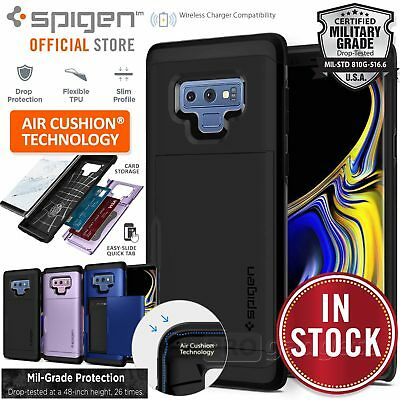 info for 20f50 35fd2 GALAXY NOTE 9 Case Genuine SPIGEN Slim Armor Card Slider CS Holder for  Samsung