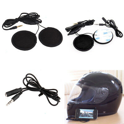 Stereo Motorcycle In-helmet Speaker 3.5 mm Headphone Earphone Volume Control UK