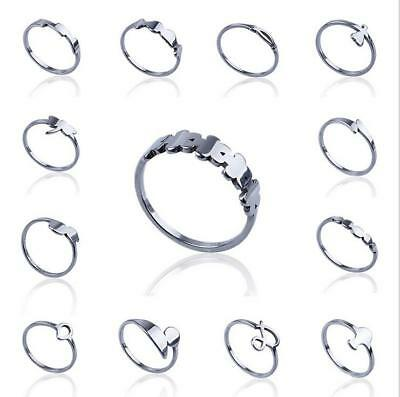 Fashion Unisex Punk Stainless Steel Filled Ring Women Jewelry Party Gift