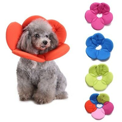 Pet Dog Flower Pattern Anti-Lick Neck Collar Soft Protection Wound Recovery Cone