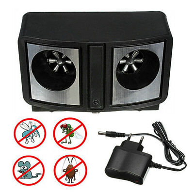 Dual Sonic Ultrasonic Pest Repeller Rats Mice Mosquito Insect Control UH