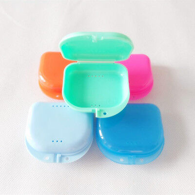 5pcs Dental Orthodontic Retainer Denture Storage Box Case Mouthguard Container