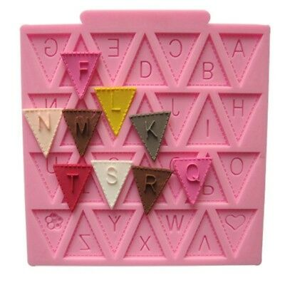 BABY SHOWER BUNTING FLAGS Party 3D Silicone Mould Fondant Cake Decorating Topper
