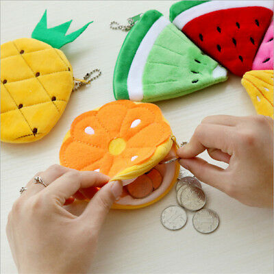 Cute Soft Plush Coin Purse Wallet Strawberry Pineapple Fruit Wallet one
