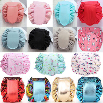 Travel Pouch Cosmetic Bag Portable Makeup Drawstring Waterproof Bags Storage