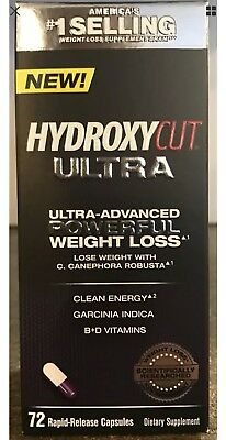 Hydroxycut Ultra 72 Count NEW! Advanced Weight Loss Formula Fast Free Ship 11/18