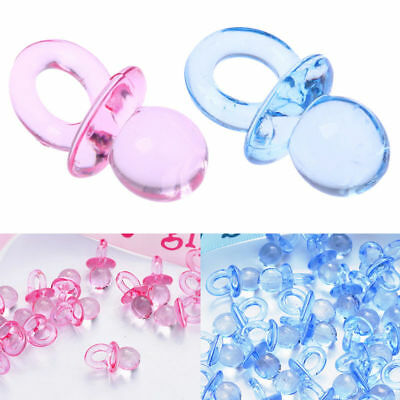 100pcs Baby Shower Dummy Pacifier Party Favours Table Decorations Cake Toppers