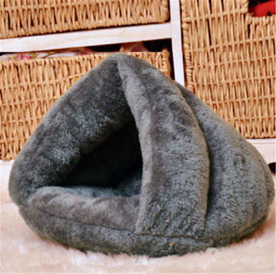 Pet Cat Igloo Bed Small Dog Soft Nesting Bed Met House Covered (S,M)