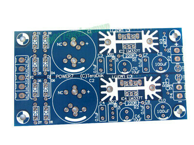 LM317 LM337 Double AC-DC Preamp Amplifier Regulated Power Supply Bare PCB Board