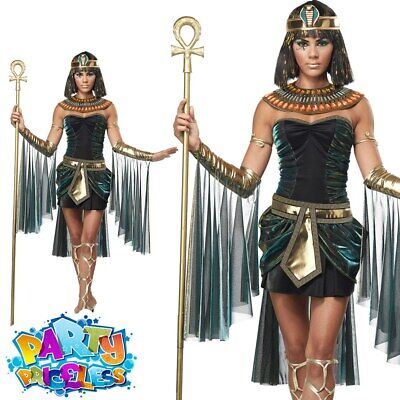 Ladies Egyptian Goddess Costume Sexy Cleopatra Fancy Dress Outfit Womens