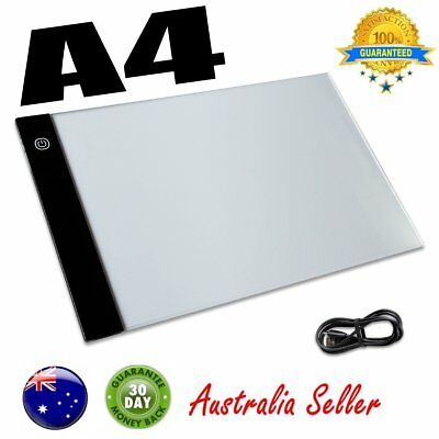 A4 Ultra Thin LED Tracing Light Pad Box USB Light Tattoo Drawing Sketch Board