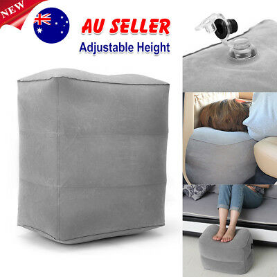 Plane Train Travel Inflatable Leg Foot Rest Portable Pad Footrest Pillow Bed AU