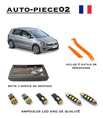 Pack FULL LED intérieur pour Volkswagen Golf Sportsvan ( Version full )