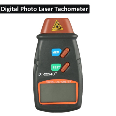 New Digital Tachometer Laser Photo Non Contact RPM Tach Meter Motor Speed Gauge