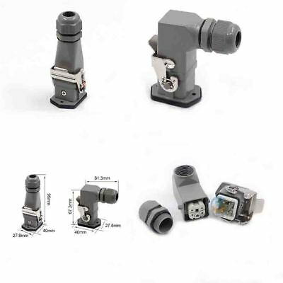Heavy Duty Connector H3A-HA-004 4-Pin 4P Aviation Plug Male/Female 10A Top/Side