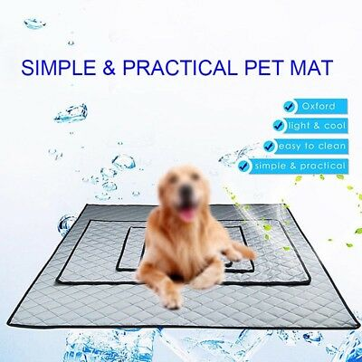 Summer Dog Cooling Mat Non-slip Pet Sleeping Pad for Home Car Travel Keep Cool