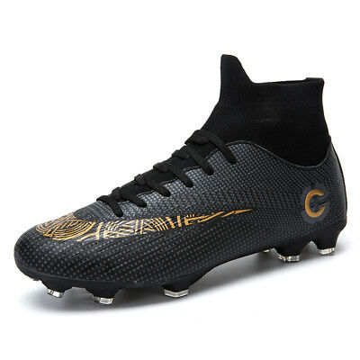 1b81810b28f Men Soccer Shoes FG Football Boots High Ankle Athletic Outdoor Training  Cleats
