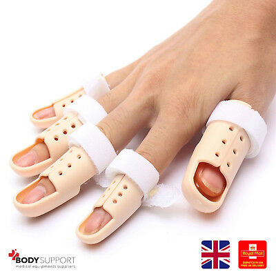 Plastic Finger Injury Protector Support Brace Splint Joint All Size Sleeve Thumb