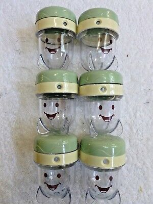 Six Magic Bullet Baby Bullet Date/Dial Storage Cups with lids EUC