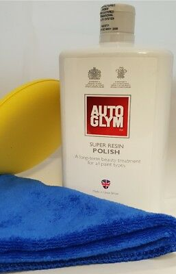 1 Litre AutoGlym Super Resin Polish With Cloth And Applicator Pad