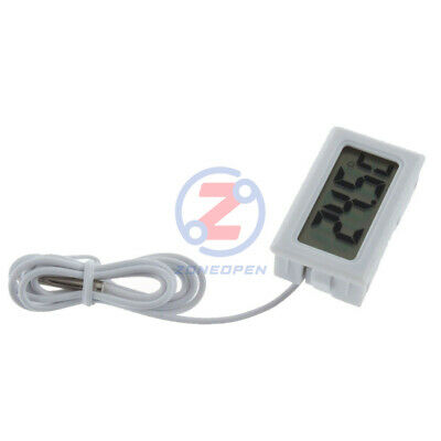 Digital LCD Gauge Insert Mini Temperature Thermometer Thermograph with Probe