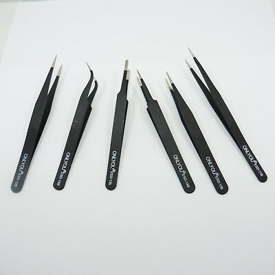 ONLYOU Professional Precision ESD-B Tweezers Anti-Static Stainless Steel