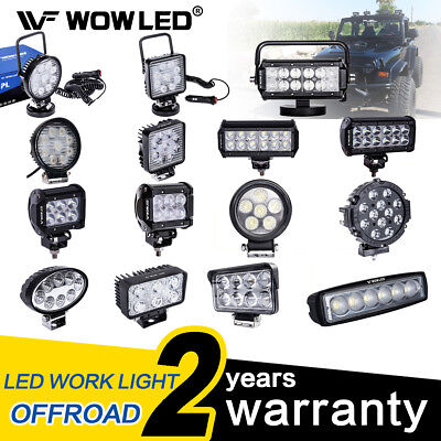 WOW - LED Work Lights Flood Spot Driving Bar Lamp Offroad SUV Truck 4v4 12V 24V