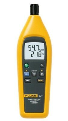Fluke 971 TEMPERATURE HUMIDITY METER Min/Max/Avg Data Hold, Backlit Dual Display