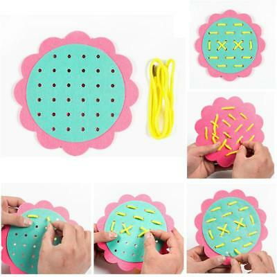 Children Threading Game Teaching Toys Tie-up Lacing Toys Kids Learnng DIY Craft