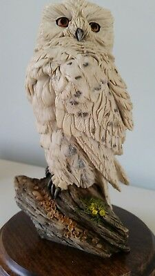 Country Artists Richard Cooper Co Snowy Owl Excellent condition 1989 21cm  high